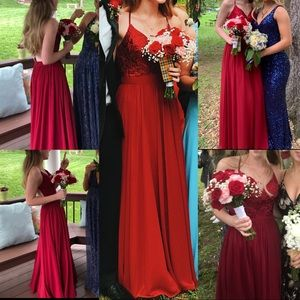 PROMGIRL BURGUNDY/RED PROM DRESS WORN ONCE
